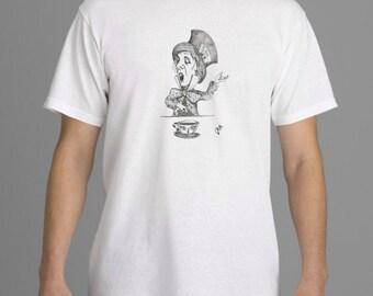 Alice in Wonderland T-shirt,  Mad Hatter T-shirt,  Tim Burton Inspired, proceeds to Alzheimer's Association