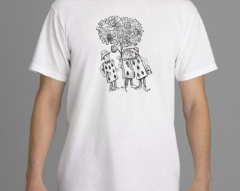 Alice in Wonderland T-shirt,  Card Painting Roses T-shirt,  Tim Burton Inspired, proceeds to Alzheimer's Association