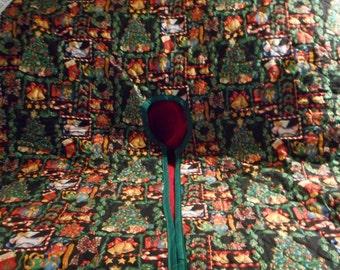 Christmas tree skirt, hand crafted