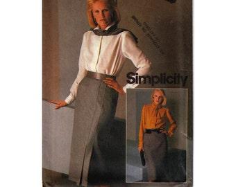 "Women's Sewing Pattern Two Bias Skirts Pleats Vent Opening UNCUT Size 10 Waist 25"" (65 cm) Simplicity 6585 S"