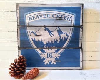 Beaver Creek Resort Sign, Handcrafted Rustic Wood Sign, Mountain Decor for Home and Cabin, 2130