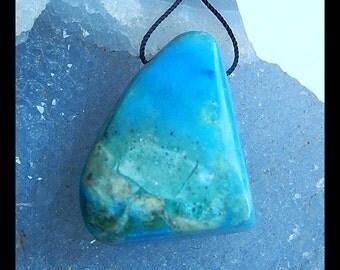 Blue Opal Gemstone Pendant Bead,32x25x18mm,19.4g