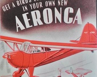 Aeronca Airplane Ad March 1941