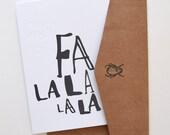 The Fa La La La La Card, Christmas Collection The Silent Night