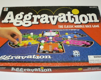 Vintage Aggravation Board Game Milton Bradley The Original Marble Game