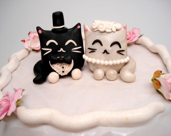 black cat wedding cake toppers lucky cat cake toppers wedding decorations cake by 11859