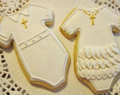 Communion/Baptism Onsies - sugar cookies
