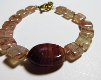 Rhimba glass beaded bracelet