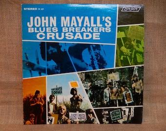 John Mayall's Blues Breakers - Crusade - 1967 Vintage Vinyl Record Album...w/Separate Cover Sheet