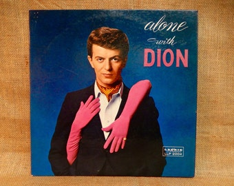 DION - Alone With Dion - 1960 Vintage Vinyl Gatefold Record Album
