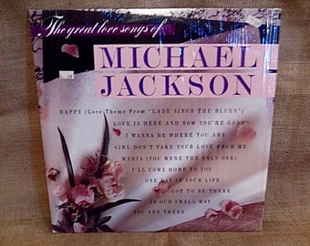 FATHERS DAY SALe...MICHAEL Jackson - The Great Love Songs Of Michael Jackson - 1984 Vintage Vinyl Record Album