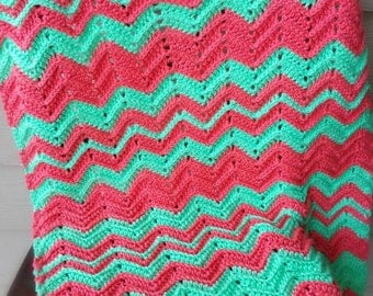 Chevron Flare Blanket lovey baby blanket afghan throw crochet pattern - pdf