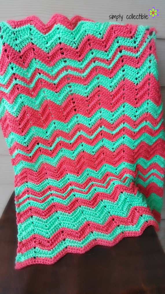Chevron Flare Blanket lovey baby blanket afghan throw crochet pattern - pdf