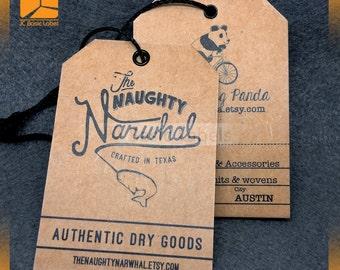 1000 brown hang tags, kraft hang tags, custom brown tags, brown paper hang tags, kraft tags