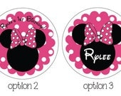 Minnie Mouse Sticker in Hot Pink