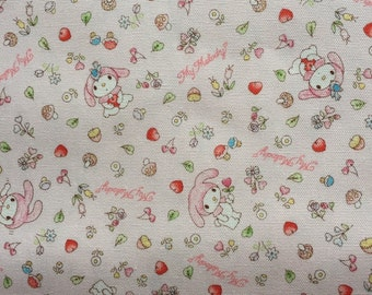 1M Flower My melody fabric light pink colour