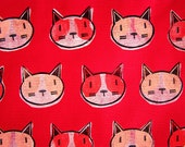 Cats Tote Bag Red and Pink