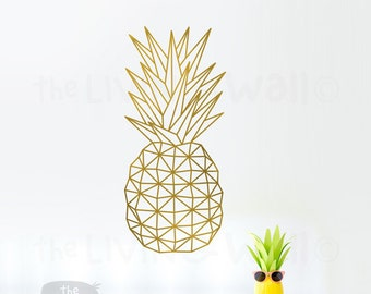 Geometric Pineapple Wall Art, Fruit Stickers Wall Decal Decor, Australian Made