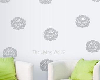 Lotus Flower Wall Decals, Zen Home Decor, Floral Wall Decor, Yoga Wall Art, Vinyl Wall Sticker, Home Decor, Lotus Removable Wall Stickers