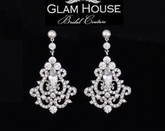 Statement earrings,Bridal earrings,pearl earrings,wedding jewelry,bridal jewelry,bridal accessories,Great Gatsby jewelry