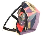 vintage DENIM tassel snapback COLORBLOCK fresh prince wild backpack bag