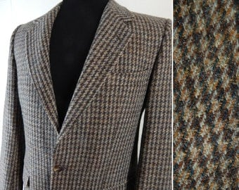 Vintage Harris Tweed Sport Coat. Made in Germany. Gorgeous 80s Wool Tweed Jacket.  37 38