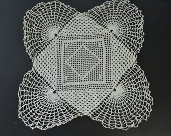 Vintage Crochet White Doily Doilie