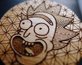 Rick in the 6th Dimension - Wooden Hat Pin