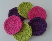 SOLD Reserved For Customer Reusable Crocheted Cotton Facial Scrubbies Set of 24