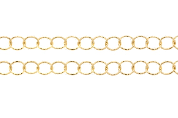14Kt Gold Filled 8mm Twisted Circle Chain - 5ft (2468-5)/1