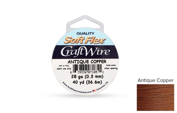 Craft Wire Soft Flex 28gauge Non Tarnish Antique Copper 40yards  - 1 Spool (3576)  Wholesale Price