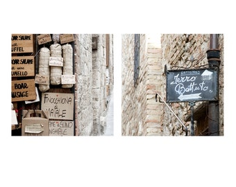 Italy Decor, neutral home decor, brown and cream wall art, Italy photography - Set of Two Fine Art Photographs