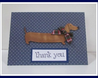 Dachshund Dog Thank You Card
