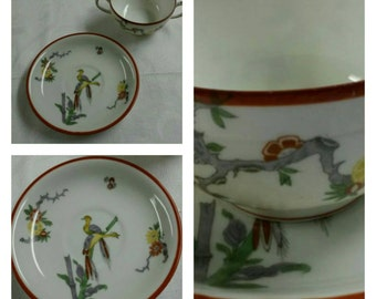 Rare Limoges Bouillon Cup & saucer circa 1890-1932  -DS