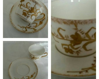 Limoges cup and saucer by Hinrichs & Co circa early 1900's-  DR