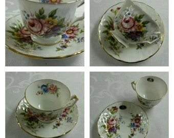 ON SALE- Aynsley cup & saucer circa 1950's  -843