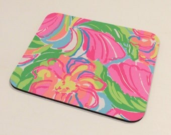 Mouse Pad made with Lilly Pulitzer Fabric  So A Peeling 2016