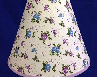 Purple Blue Flower Lamp Shade
