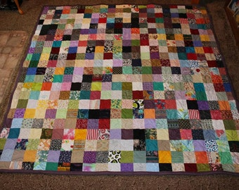 Custom Made Quilt Scrappy Patchwork Quilt - California King Size Quilt - Custom Quilt Made to Order - Cal. King Quilts - EVERYTHING SUPPLIED