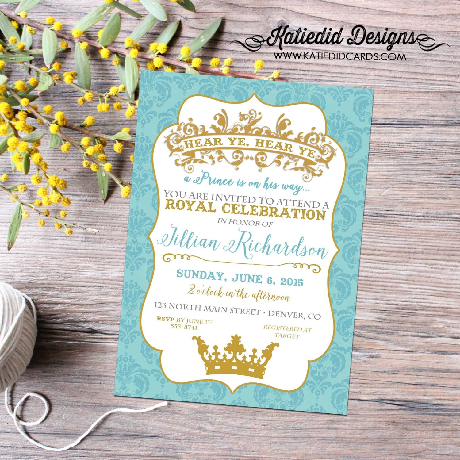Prince Baby Shower Invitation Once Upon A Time Storybook Book Il Fullxfull  Prince Baby Shower Invitation