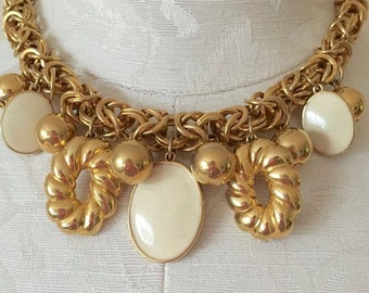 60's Vitage Gold Charm Necklace