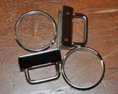 "1 and 1/4"" Key Fob Hardware~~~Clamp and Ring Included~~~Sold as a Set"