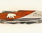 Rite Edge Multi tool With custom Sterling Silver Bear inlay