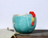 Hen yarn bowl Knitting bowl Knitter gift Mother's day  Ready to ship