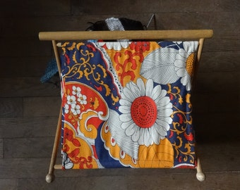 Vintage English Knitting Sewing Craft Needlecraft Craft Baskets circa 1970-80's / English Shop