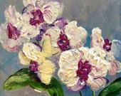"Orchids Painting Orchids  Floral Original Art 6 x 6"""