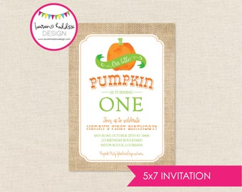DIY, Our Little Pumpkin INVITATION ONLY