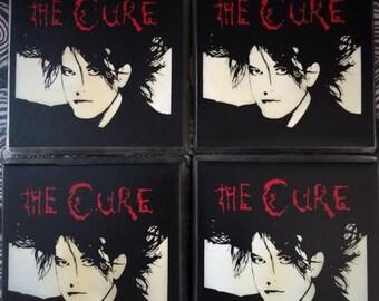 The Cure coffee coaster set