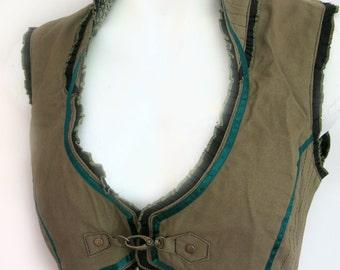 Women's Belly Dancer's Waistcoat GREEN
