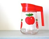 Vintage Red Apple Henkel Jug / Pitcher by VMC of France